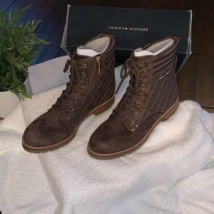 NWT Tommy Hilfiger combat boots